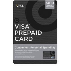 Visa Prepaid Gift Card $400 USD Activated and Ready to use Non-Reloadable