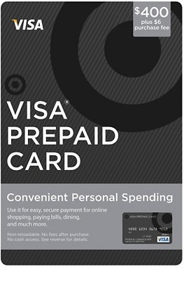 Visa Prepaid Gift Card $400 USD Activated Ready to use Non-Reloadable