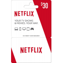 Netflix Gift Card $30 Code Certificate Emailed Worldwide