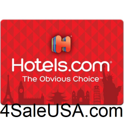 Hotels.com Gift Card $100 Code Certificate Hotels Emailed Worldwide