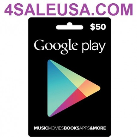 Google Play $50 eGift Card Emailed Worldwide
