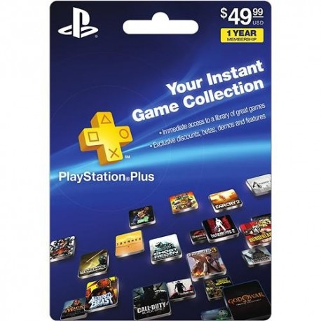 Sony PlayStation Plus 12 Month Subscription Card for PlayStation 3 and 4 Code Emailed