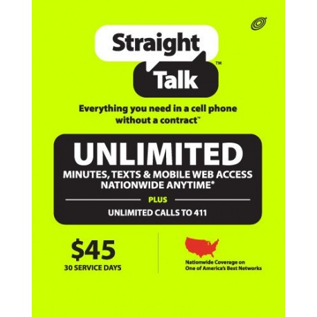 Straight Talk $135 Prepaid 3 Month service Top-Up Refill Reload Card PIN service