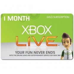 Xbox Live 1 Month Subscription US Microsoft Gold Card Code Emailed