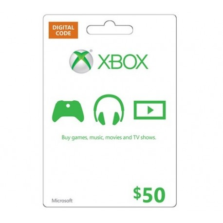 XBOX $50 GIFT CARD MICROSOFT POINTS MS CERTIFICATE VOUCHER CODE EMAILED WORLDWIDE