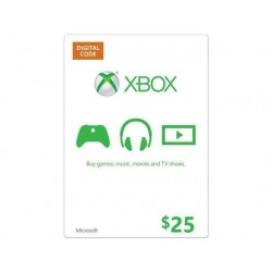 XBOX $25 GIFT CARD MICROSOFT POINTS MS CERTIFICATE VOUCHER CODE EMAILED WORLDWIDE