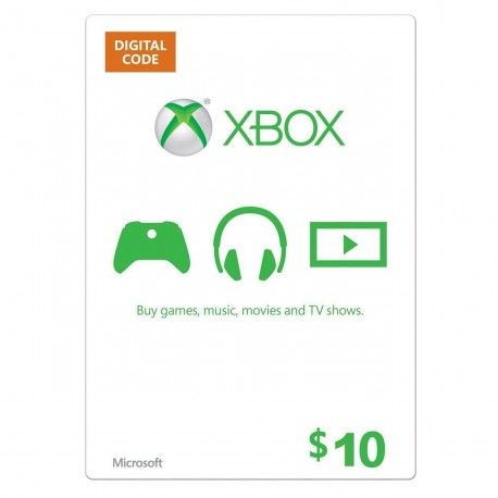 XBOX $10 GIFT CARD MICROSOFT POINTS MS CERTIFICATE VOUCHER CODE EMAILED WORLDWIDE