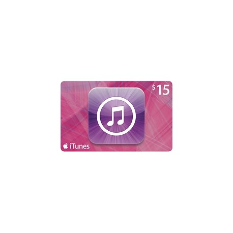 $15 iTunes Gift Card Apple iPhone iPad Mac 15$ (E-mail Delivery)