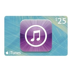 $25 iTunes Gift Card Apple USA iPhone iPad Mac 25$ (E-mail Delivery)