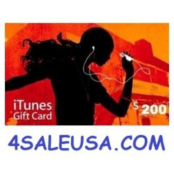 $200 iTunes Gift Card Apple USA iPhone iPad Mac 200$ (E-mail Delivery)