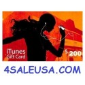$200 iTunes Gift Card Apple USA iPhone iPad Mac Codes 200$ Voucher Emailed