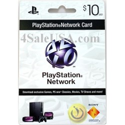 Playstation Network $10 Prepaid Sony Card PSN $10 (E-mail Delivery)
