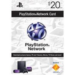 Playstation Network $20 Prepaid Sony Card PSN $20 (E-mail Delivery)