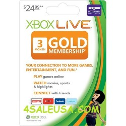 Xbox Live 3 Months Subscription US EU Worldwide Gold Card / Code (E-mail Delivery)